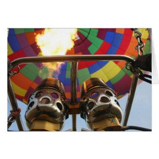 Hot Air Balloon Burner Card
