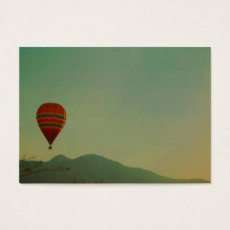 hot air balloon business card
