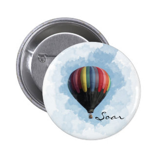 Hot Air Balloon Pinback Button