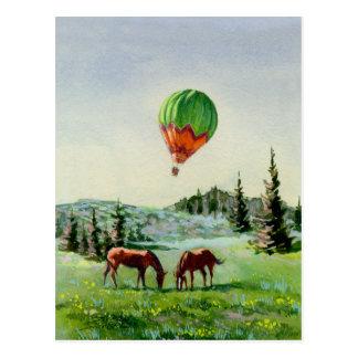 HOT AIR BALLOON by SHARON SHARPE Post Cards