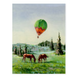 HOT AIR BALLOON by SHARON SHARPE Postcard
