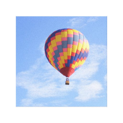Hot Air Balloon Canvas Print Zazzle