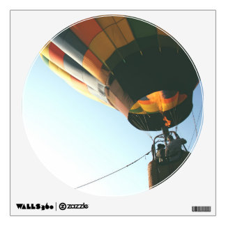 Hot Air Balloon Circle Window Wall Sticker