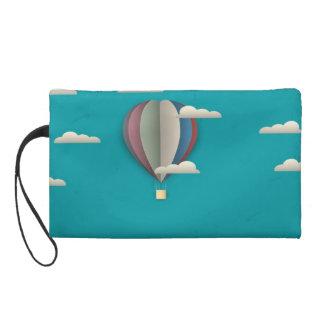 Hot Air Balloon Cityscape Wristlet Purses