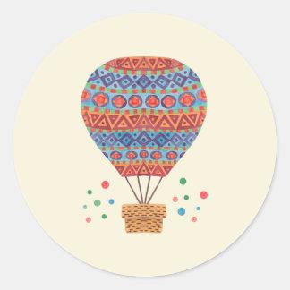 Hot Air Balloon Classic Round Sticker