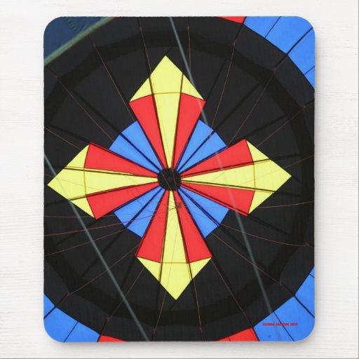 Hot air Balloon, Compass! Mouse Pad