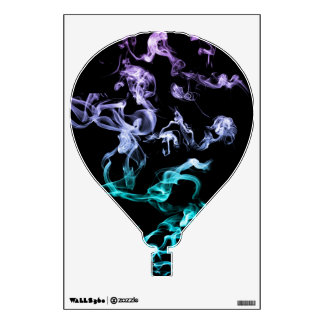 Hot Air Balloon Decal - Coloured Smoke