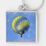 Hot Air Balloon Digital Art Watercolor Keychain