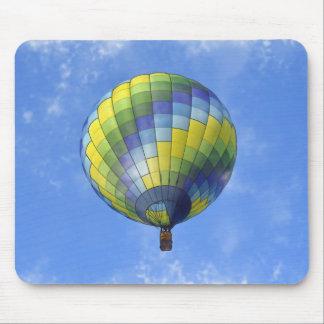 Hot Air Balloon Digital Art Watercolor Mouse Pad