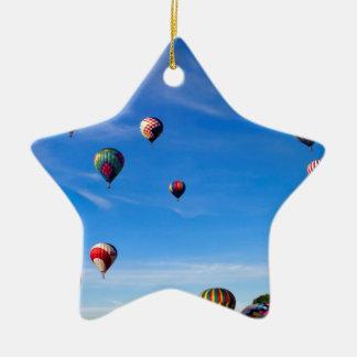 Hot Air Balloon Festival Ceramic Ornament