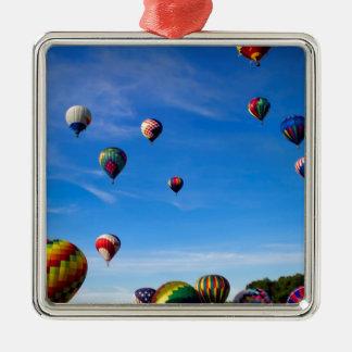 Hot Air Balloon Festival Metal Ornament