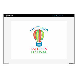 "HOT AIR BALLOON FESTIVAL 15"" LAPTOP DECAL"