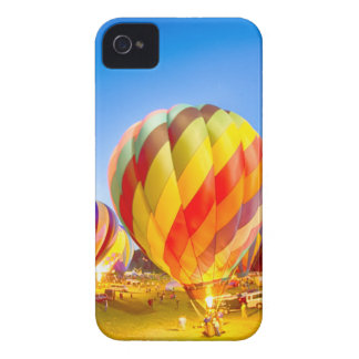 hot air balloon fire glow at night iPhone 4 covers