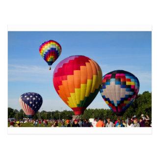 Hot Air Balloon Flight Festival Decatur Alabama Postcard