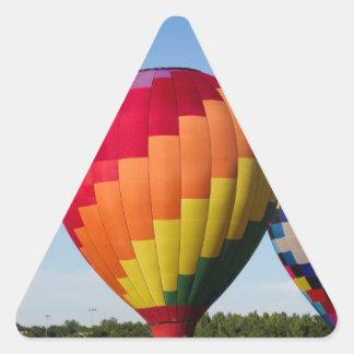 Hot Air Balloon Flight Festival Decatur Alabama Triangle Sticker