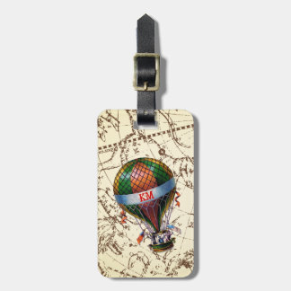 Hot Air Balloon Floats on Zodiac Sky Personalize Bag Tag