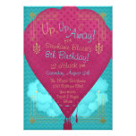 Hot Air Balloon Girls Birthday Party Invite