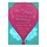 Hot Air Balloon Girls Birthday Party Invite