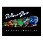 Hot Air Balloon Glow Albuquerque, NM Postcard