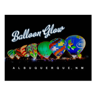 Hot Air Balloon Glow Albuquerque, NM Postcard