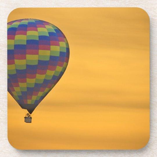 Hot Air Balloon Golden Flight Drink Coaster