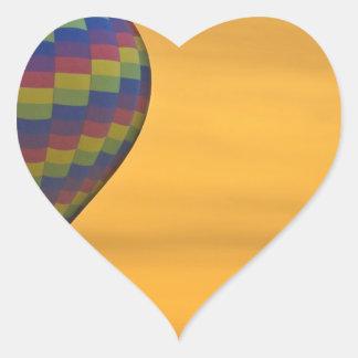 Hot Air Balloon Golden Flight Heart Sticker