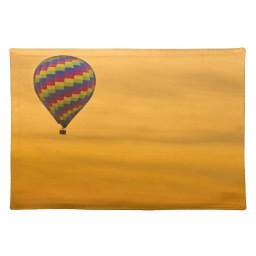 Hot Air Balloon Golden Sky Placemats