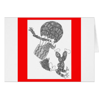 hot air balloon greeting cards