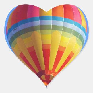 Hot Air Balloon Heart Sticker