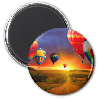 hot air balloon image 2 inch round magnet