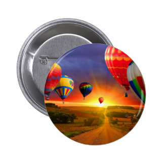 hot air balloon image pinback buttons