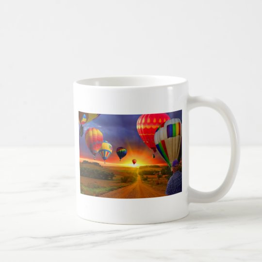 hot air balloon image coffee mug