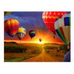 hot air balloon image postcard