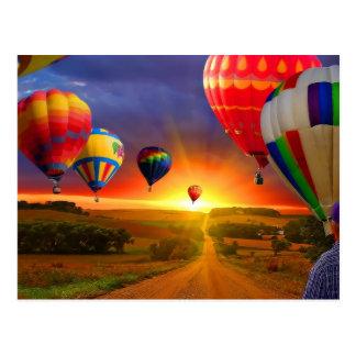 hot air balloon image postcards