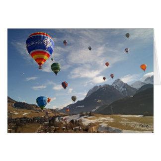 hot air balloon in Switzerland Greeting Card