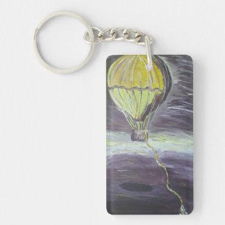 Hot Air Balloon Keychian Double-Sided Rectangular Acrylic Keychain