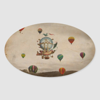 Hot Air Balloon La Minerve 1803 travel in style Stickers