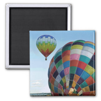 Hot Air Balloon Launch 2 Inch Square Magnet