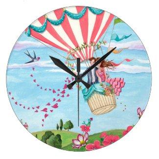 Hot Air Balloon Love | Clock