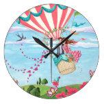 Hot Air Balloon Love - Clock