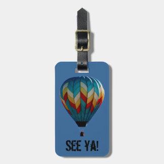 Hot air balloon luggage tag