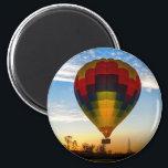 """Hot Air Balloon Magnet<br><div class=""""desc"""">Hot Air Balloon in the sunrise.</div>"""
