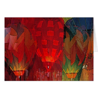 Hot Air Balloon Mania Greeting Card