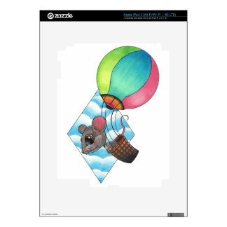 Hot Air Balloon Mouse iPad 3 Decals