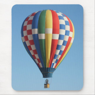 Hot air balloon multicolored mouse pad