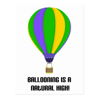 Hot Air Balloon Natural High Postcard