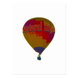 Hot air balloon - Natural High Postcard
