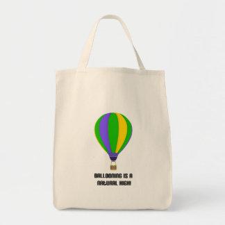 Hot Air Balloon Natural High Tote Bag