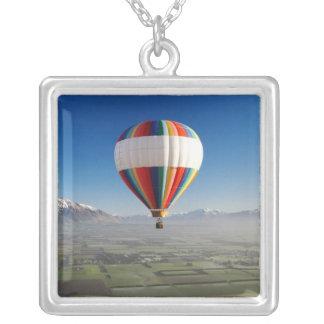 Hot-air Balloon, near Methven, Canterbury 3 Silver Plated Necklace