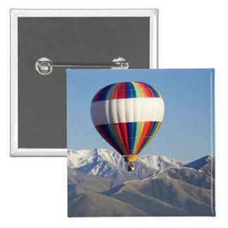Hot-air Balloon, near Methven, Canterbury 2 Inch Square Button